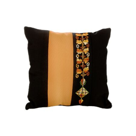 Bedouin Hand Embroidered Pillow Cover - Gold
