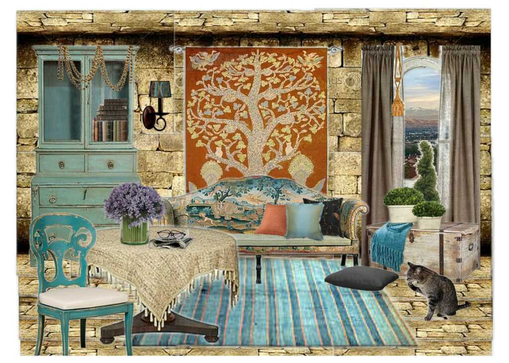 French Country House, as Remembered on Olioboard