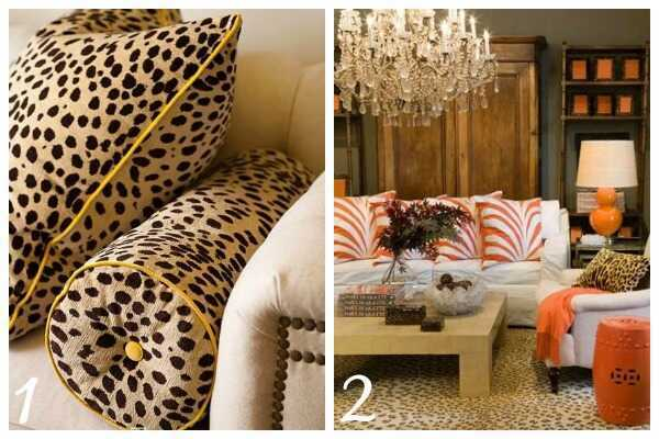 Decorating with Animal Prints: Pillows