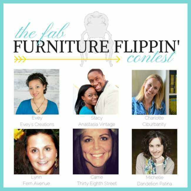 August Fab Furniture Flippin' contest featuring D. Lawless Hardware!
