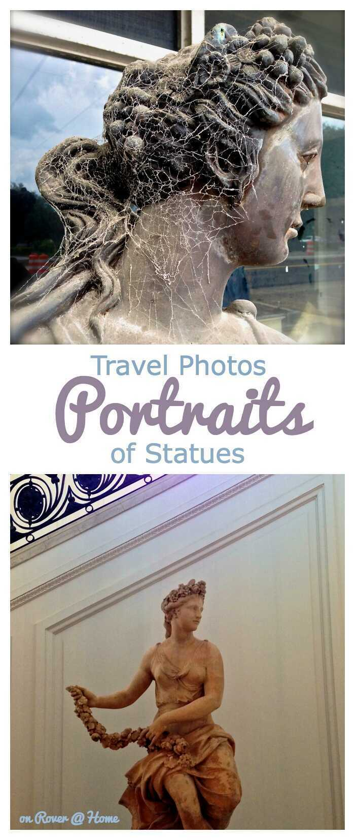 Portraits of Statues, the Sculpture or Statuary becomes your model for portraits - an interesting theme for travel photography