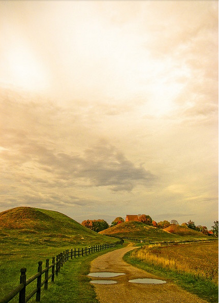 The Viking Mounds at Uppsalla, Sweden
