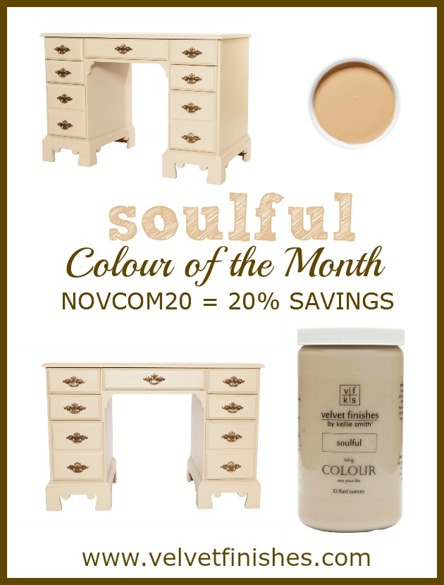SOULFUL - Velvet Finishes November Colour of the Month - Receive 20% savings on our 32oz SOULFUL containers at www.velvetfinishes.com