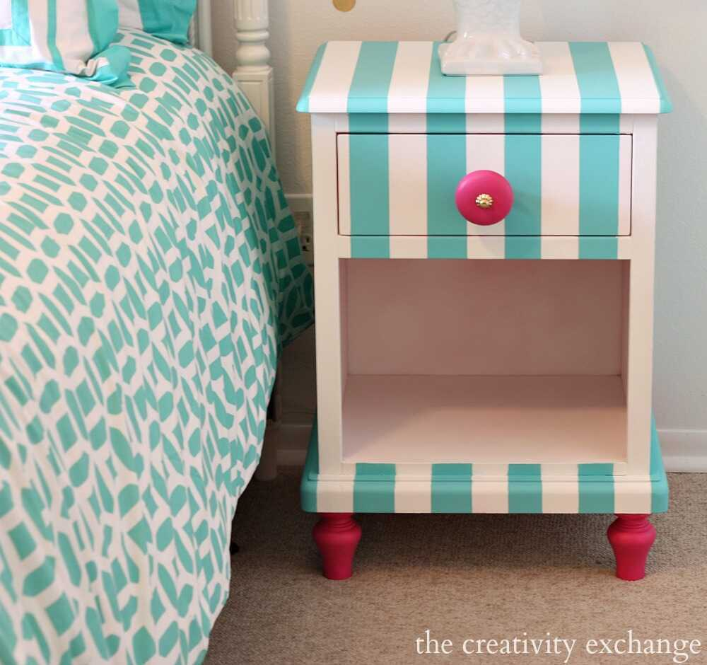 Tutorial-for-creatively-painting-childrens-furniture_-Nightstand-painted-with-Velvet-Finishes-Paint-The-Creativity-Exchange