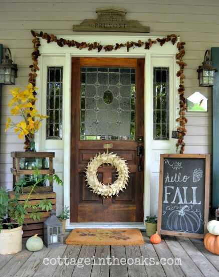 Here are 15 cozy ways to decorate your home for Fall! All are easy, inexpensive, and sure to bring the Fall season indoors! Tips from Designer Kellie Smith