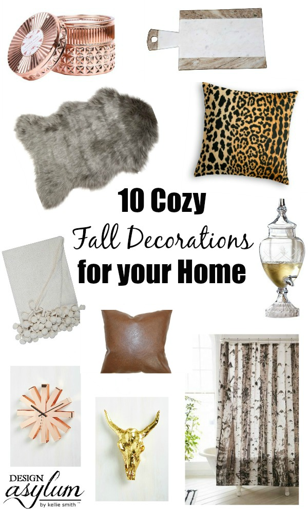 Here are 10 Cozy Fall Decorations for your Home - from pillows to candles, there's something here for everyone! Fall decor that won't break the bank!