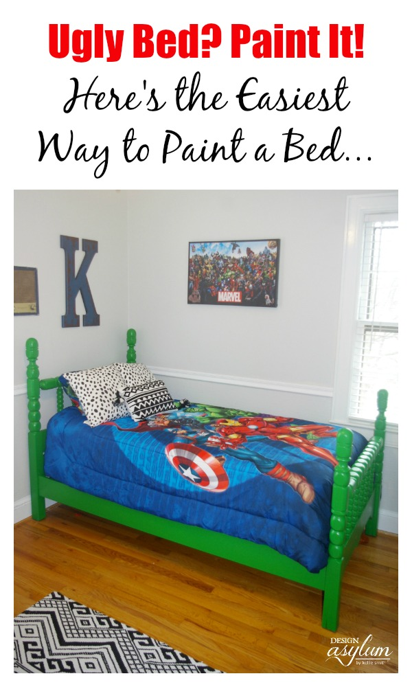 Have an ugly bed? Paint it with Velvet Finishes! Here is the easiest way to paint a bed. No sanding, no waxing, no brushstrokes - just beautiful color!