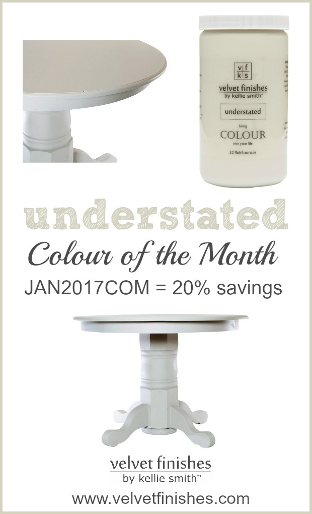 Save 20% on Velvet Finishes January Colour of the Month - Understated! Go here to view understated furniture painting and design inspirations!