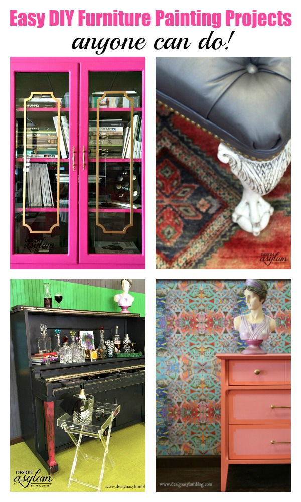 Looking for DIY furniture painting projects? Here are 10 easy DIY furniture projects that anyone can do using Velvet Finishes paint. No sand, no wax!