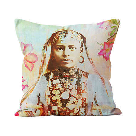 Square Indoor Throw Pillow - Desert Rose