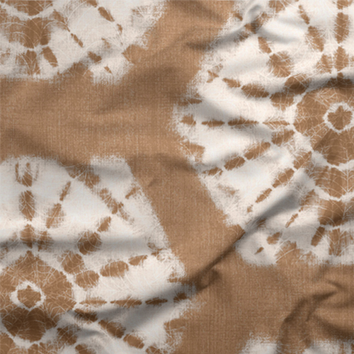 Brown Shibori Tie-Dye Fabric Exclusively by SmithHönig