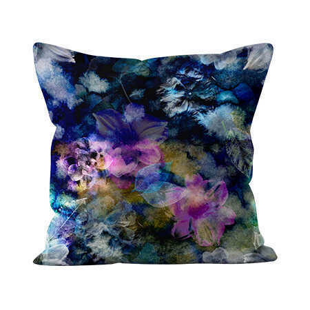 Square Indoor Throw Pillow - Bryony Storm Noir