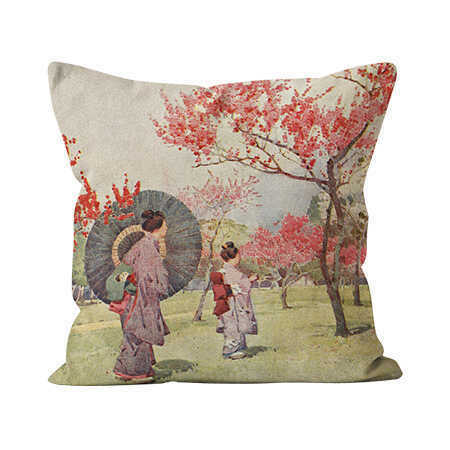 Square Indoor Throw Pillow - Parasol