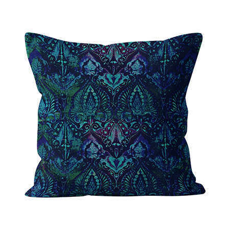 Square Indoor Throw Pillow - Neela Blue