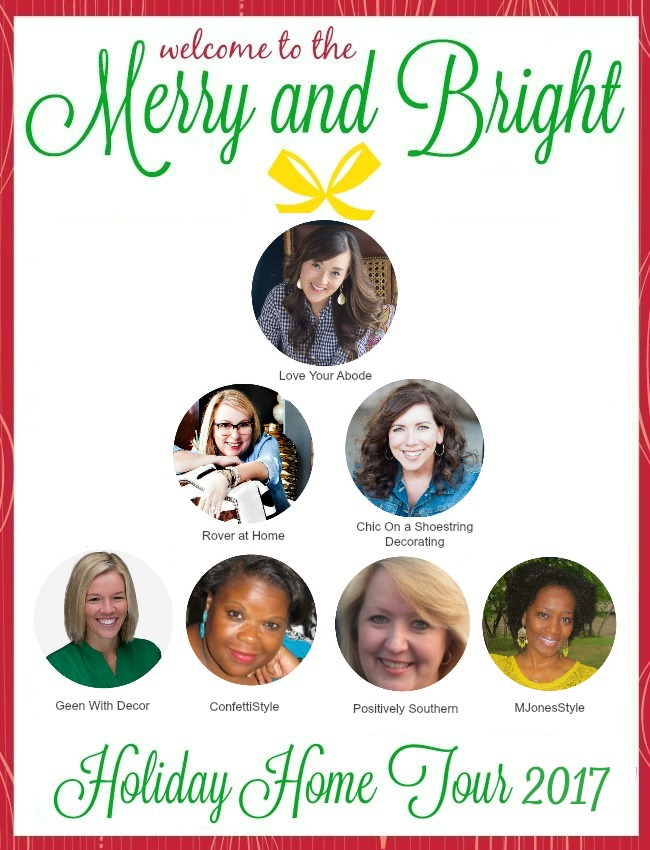 Merry and Bright Holiday Home Tour Blog Hop 2017! Tour 7 different homes from 7 different bloggers, full of holiday cheer. Sponsored by Amara and SmithHönig