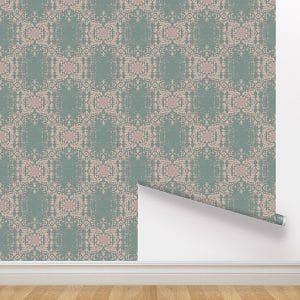 peel and stick wallpaper dusty pink green removable wall paper
