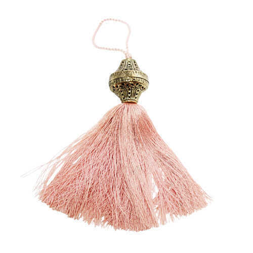 Brass Top Silk Tassel - Lotus