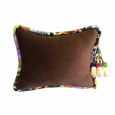 Brown Luxurious Velvet Pillow - K127