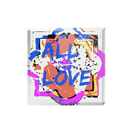 All Love - Acrylic Art Block