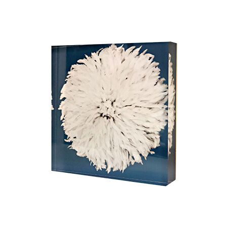 Acrylic Art Block - Juju Hat Blue