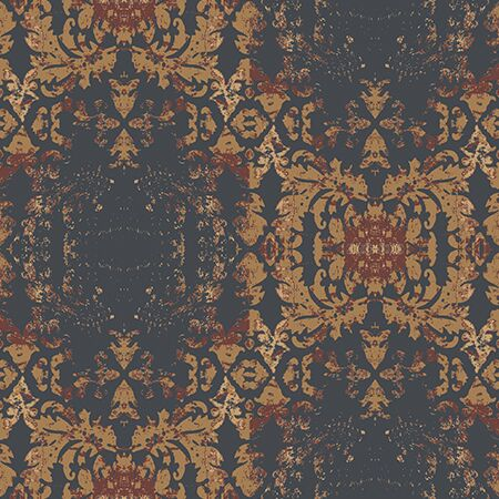 Damask Temporary Wallpaper in Brown - a SmithHönig Exclusive