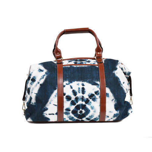 Classic Retro Travel Bag - Shibori Indigo