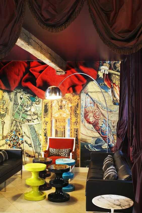 Maximalist hotels around the world are filled with luxury, color, patterns, and beautiful textures. View these unique hotels and vacations perfect for maximalists!