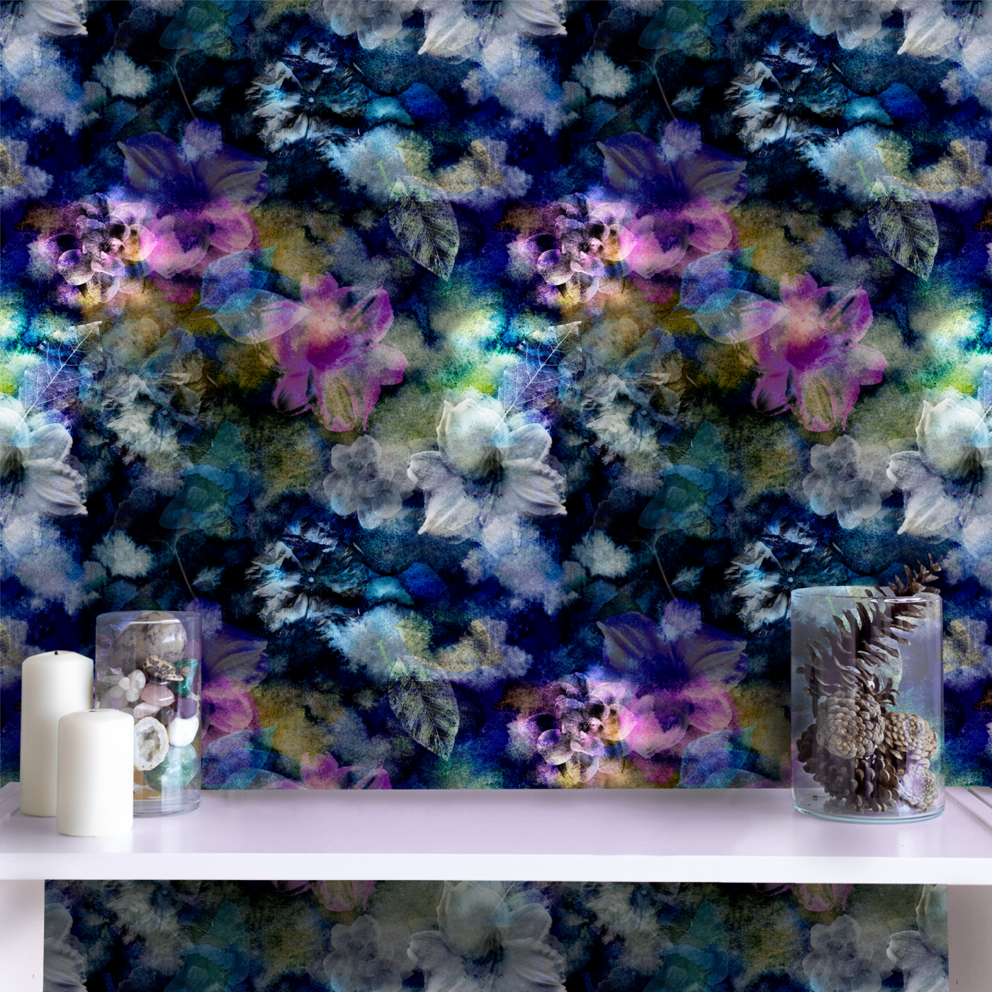 Peel And Stick Wallpaper Bryony Storm Noir Smithhonig