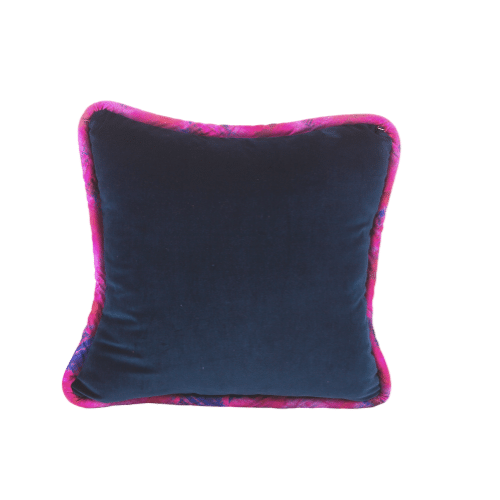 Navy Velvet Pillow with Exclusive SmithHönig Pattern