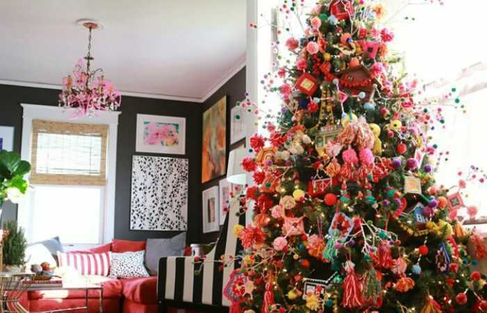 Bohemian Colorful Christmas Decor Ideas Smithhonig