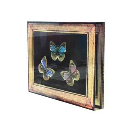 Acrylic Art Block - Black Butterfly