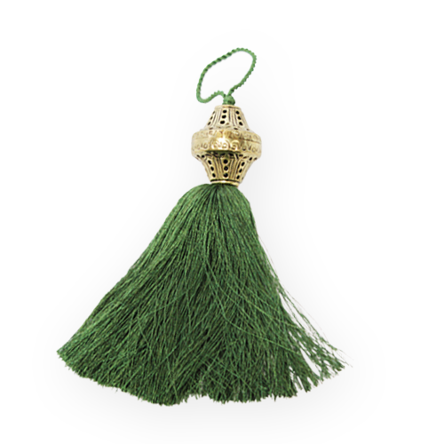 Brass Top Silk Tassel - Courtyard