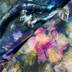 Blue Velvet Floral Fabric Exclusively by SmithHönig