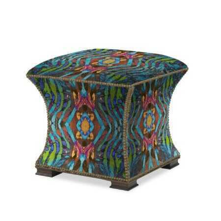 The Hourglass Ottoman - African Paint