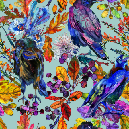 Colorful Bird Wallpaper - a SmithHönig Exclusive Print