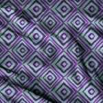 Geometric Purple Designer Fabric By The Yard Cotton