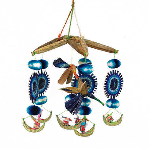 Bohemian Hanging Mobile - Blue