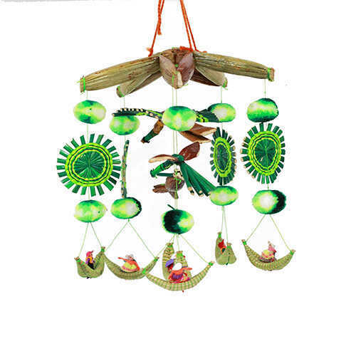 Bohemian Hanging Mobile - Green