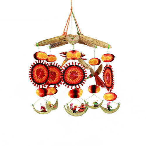 Bohemian Hanging Mobile - Orange