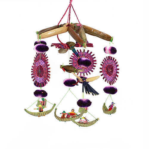 Bohemian Hanging Mobile - Purple