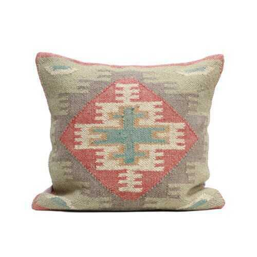 Turkish Kilim Woven Throw Pillow