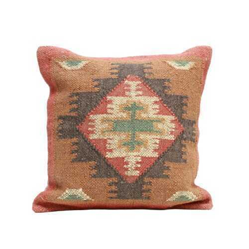 Antique Turkish Kilim Woven Throw Pillow