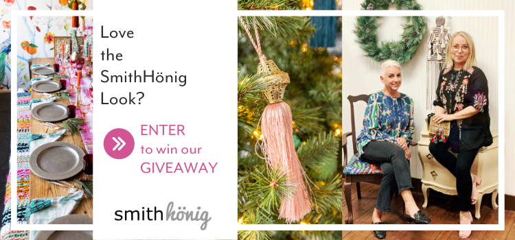The queens of maximalism (AKA our cofounders Kellie and Melanie) invite you to step into their homes for the holidays AND they have gifts! Read more and enter to win the Christmas giveaway.