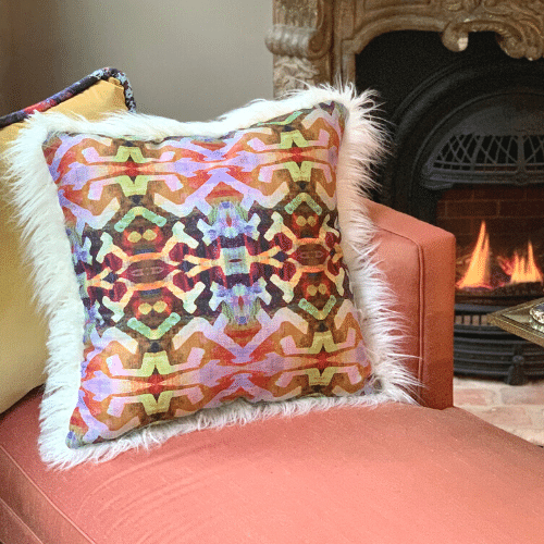 Cooler weather means adding layers - to your wardrobe and to your home. If you love the idea of mixing patterns and textures, pillows are the easiest way to make a quick yet dramatic update to any room in your home. Read on to see how our luxurious velvets and one-of-a-kind patterned pillows keeps things cozy and colorful.