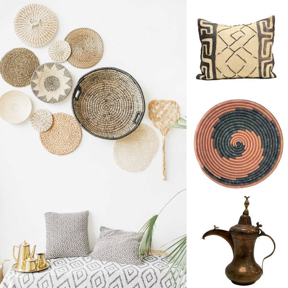Greige interiors can include color! Add in a few maximalist pieces and your greige room will take on a whole new life. Read on to see how to add a little color and pattern to your neutral look, to achieve a Greige Goes Global look.