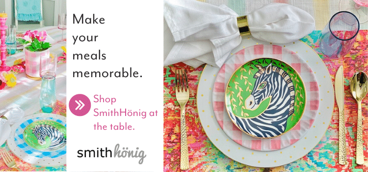 Inspired by their mother's love for beautiful dinner settings, lifestyle creator Sara Raak and her sister Collyn Capp recently started their own venture. Toteable Tablescapes is based around their love of colorful entertaining plus a dread of doing post-party dishes. See how these sisters are making meals memorable with SmithHönig's new line of paper placemats.