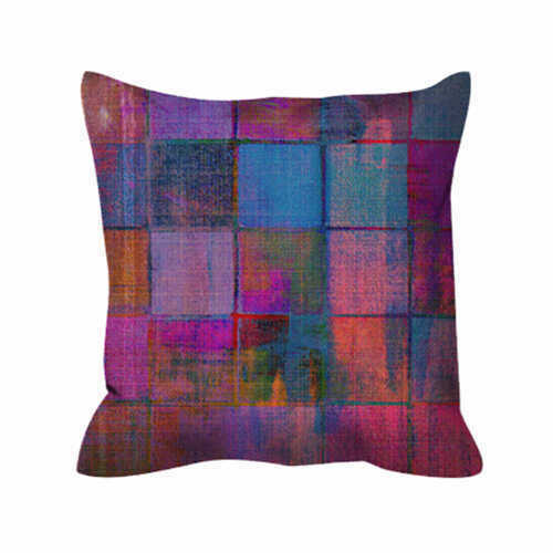 Outdoor Pillow - Vintage Checks Pink