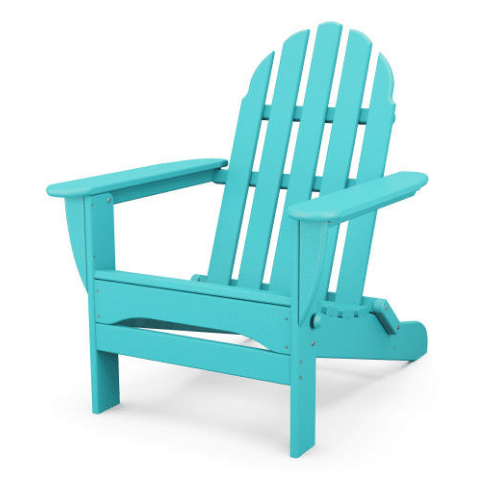 Classic Folding Adirondack Chair - Turquoise