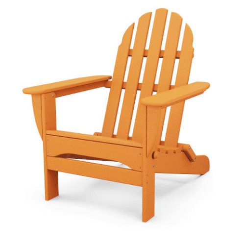 Classic Folding Adirondack Chair - Orange