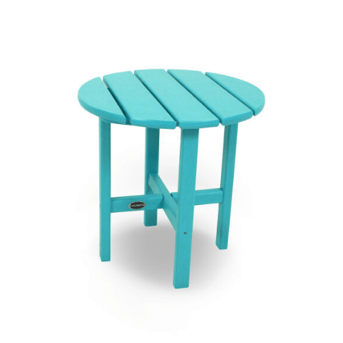 "Round 18"" Outdoor Side Table - Turquoise"